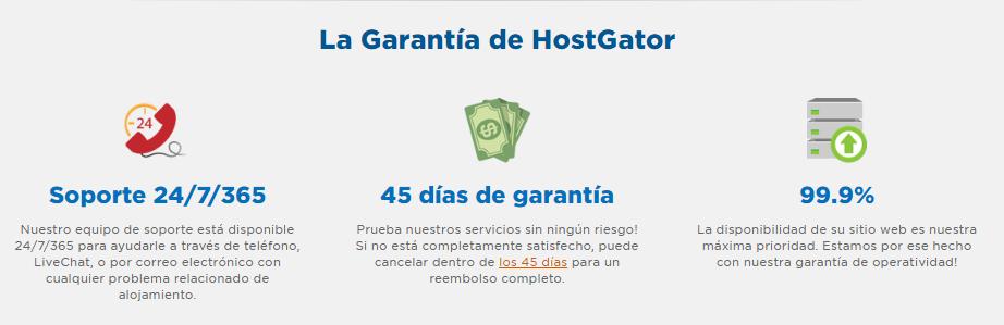 Hostgator Garantias
