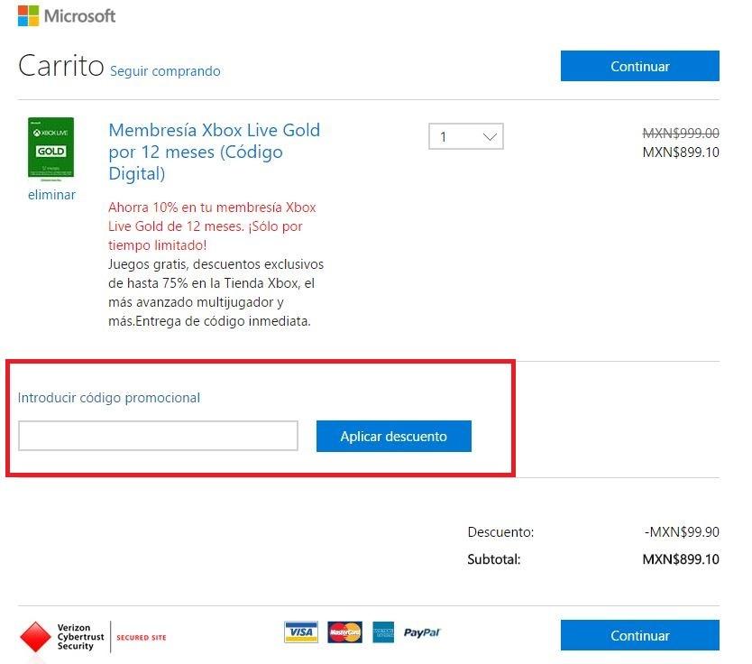 Descuento Cupón Descuento Microsoft Store