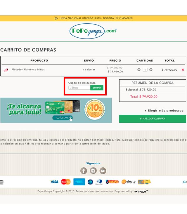 Descuento Código Promocional Pepe Ganga Colombia