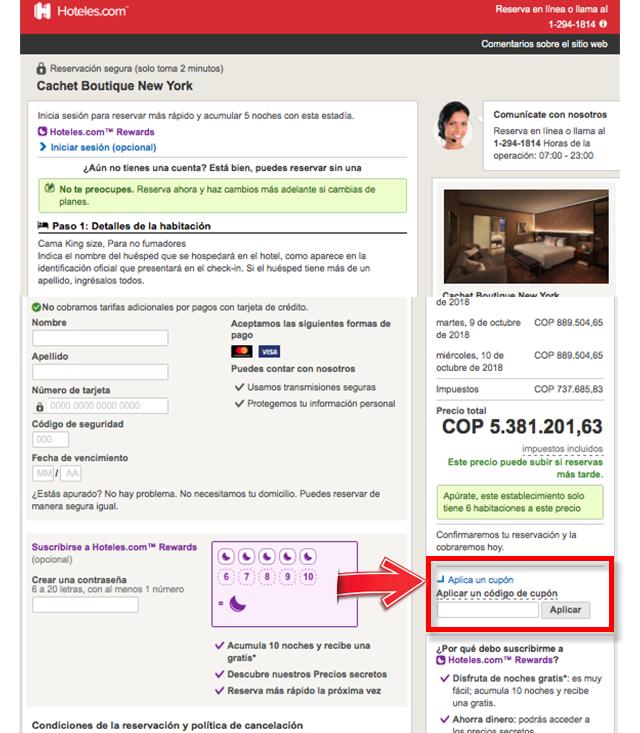 Descuento Descuentos y Cupones Hoteles.com