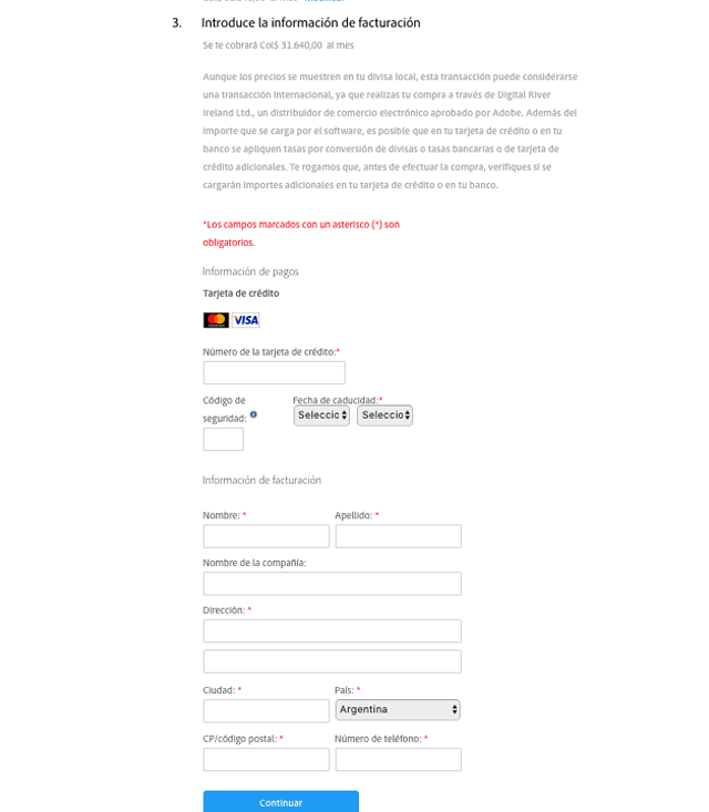 Descuento Promoción y Compra Adobe