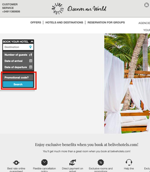Descuento Código Promocional Be Live Hotels